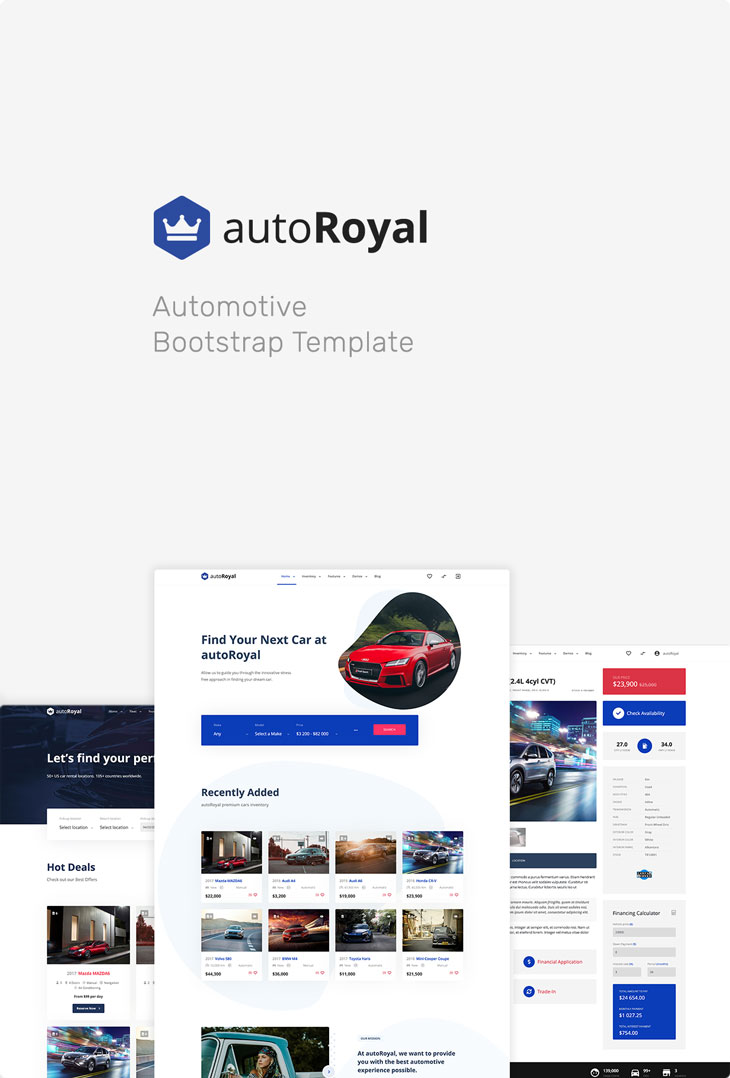 autoRoyal - Automotive Bootstrap Template